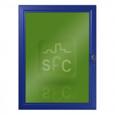 A2 Blue Lockable Poster Frame